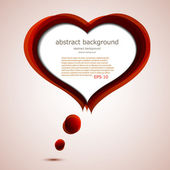 Vector love background with place for your text. Eps10 — Stock vektor