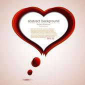 矢量爱背景与地方为您的文本。eps10 — 图库矢量图片
