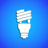 Vector icon on blue background. Eps10 — Vector de stock