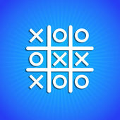 Vector icon on blue background. Eps10 — Stock Vector