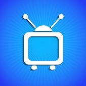 Wektor ikona na niebieskim tle. eps10 — Wektor stockowy