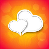 Vector love background with place for your text. Eps10 — Cтоковый вектор