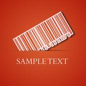 Vector background. Orange icon applique. Eps10 — Stock Vector