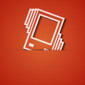 Sfondo vettoriale. applique icona arancione. eps10 — Vettoriale Stock