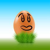 Vector egg face background. Eps10 — Stock Vector