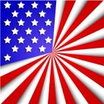 Vector usa flag background. Eps10 — Stock Vector