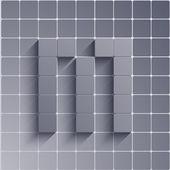 Vector abstract alphabet. Eps10 — Stock Vector
