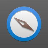Vector compass icon. Eps10 — Stock Vector