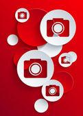 Vector camera icon background — Stock Vector