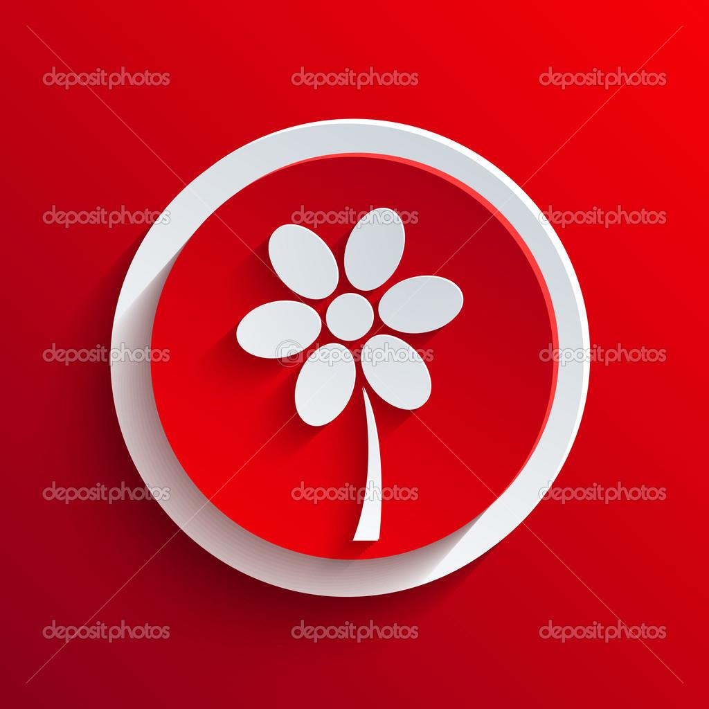 矢量红色的圆形图标.eps10