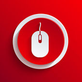 Vector red circle icon. Eps10 — Stock Vector