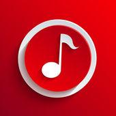 矢量红色的圆形图标。eps10 — 图库矢量图片