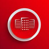 Icona del cerchio rosso di vettore. eps10 — Vettoriale Stock