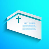 Vector Christian background. Eps10 — Stock Vector