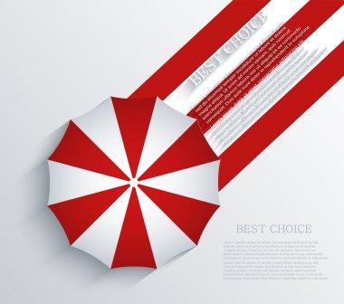 Vector creative umbrella background. Eps10