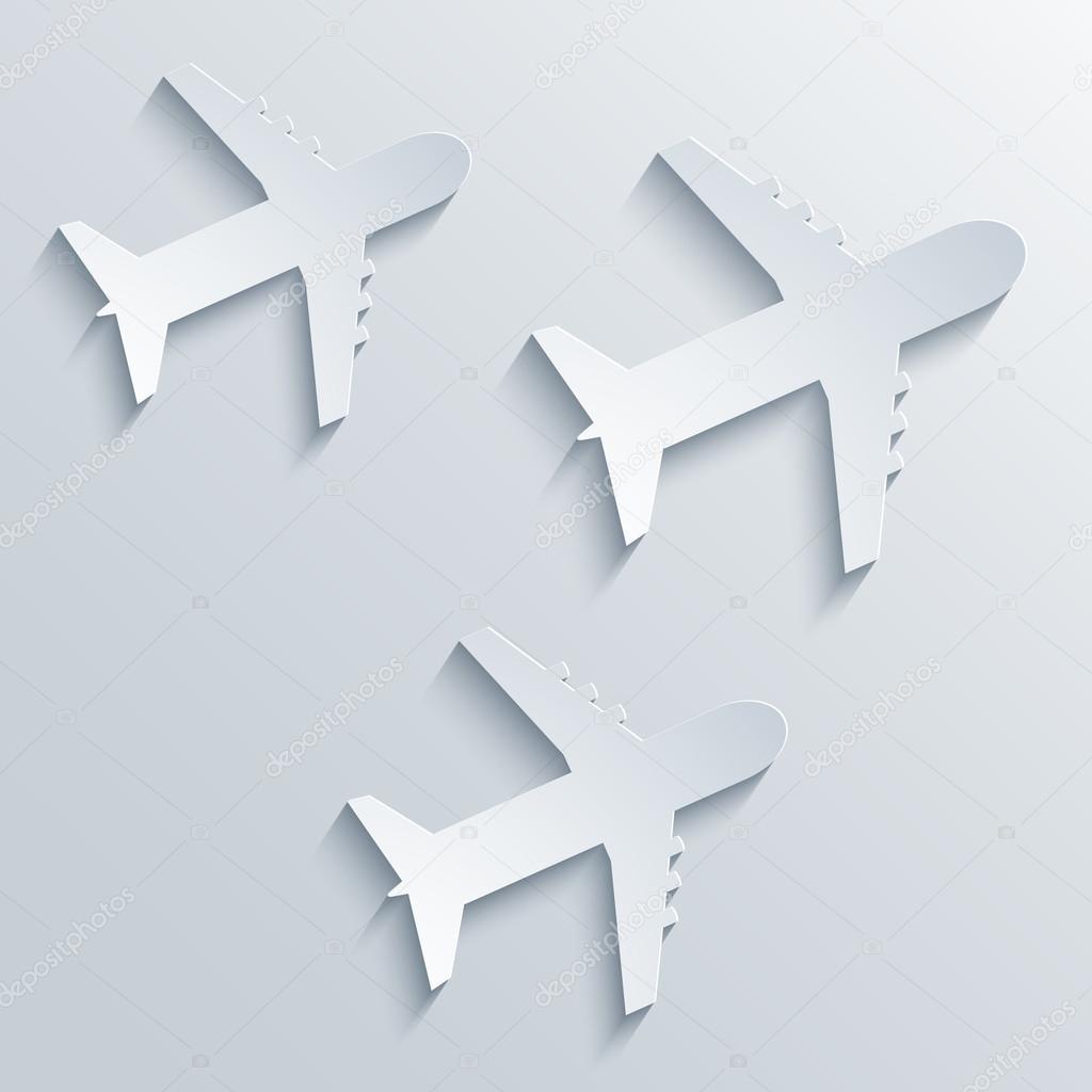 矢量飞机图标背景.eps10