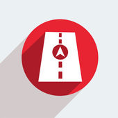 Red circle icon on gray background. — Vetorial Stock