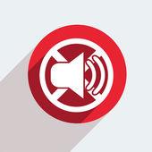 ícone de círculo vermelho sobre fundo cinza. — Vetor de Stock