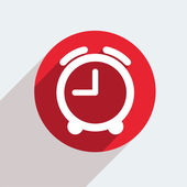 Red circle icon on gray background. — Stockvektor