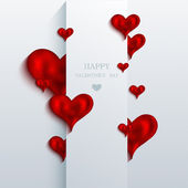 Vector valentines day background. Eps10 — Stock Vector