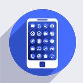 векторный icon смартфон — Cтоковый вектор