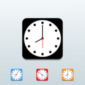 Vector clock icon set — Vettoriale Stock