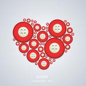 Vector san valentino sfondo. — Vettoriale Stock