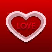 Vektor-alla hjärtans dag bakgrund. — Stockvektor