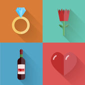 Vector flat modern love backgrounds. Eps10 — Stock vektor