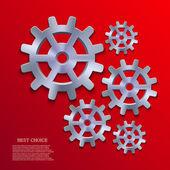 Vector creative mechanism icon background. Eps 10 — Stock Vector
