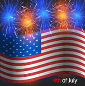 Vector 4th of july background. Independence Day — Stock Vector
