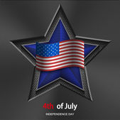Vector 4th of july background. USA Independence Day — Stock Vector