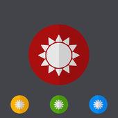 Vector modern circle icons set on gray — Stock Vector