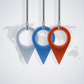 Vector modern map pointer background — ストックベクタ