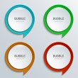 Vector modern bubble speech icons set. — Stock Vector