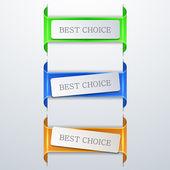 Vector modern bookmarks element design. — Vecteur