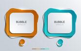 Vector modern bubble speech icons set. — Stock Vector