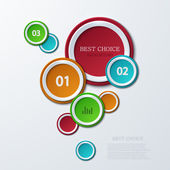 Vector modern circle infographics background. — Stock Vector