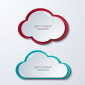 Vector modern clouds banners set. — Stock Vector