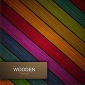 Vector modern wooden background. — Vettoriale Stock