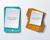 Vector modern smartphone banners set — Vecteur