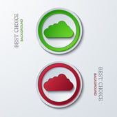 Vector modern circle icons — Stockvector