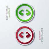 Vector modern circle icons — Vettoriale Stock