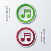 Vectoriales modernos iconos círculo — Vector de stock