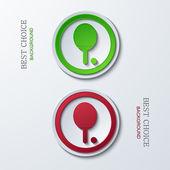 Vector modern circle icons — Vecteur