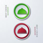 Vector modern circle icons — Stock Vector
