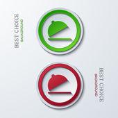 Vector modern circle icons — Vetor de Stock