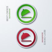 Vector modern circle icons — ストックベクタ