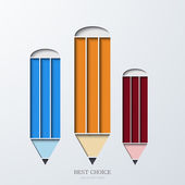 Vector modern pencil infographics. — Stock Vector