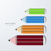 矢量现代铅笔图表. — 图库矢量图片